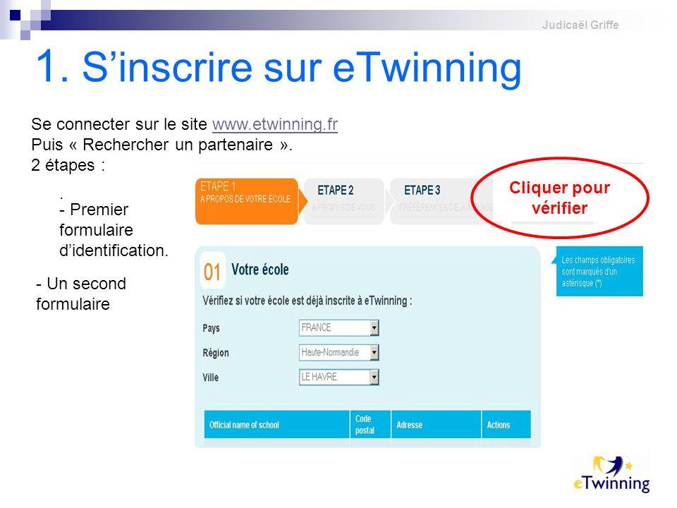 1. S'inscrire sur eTwinning