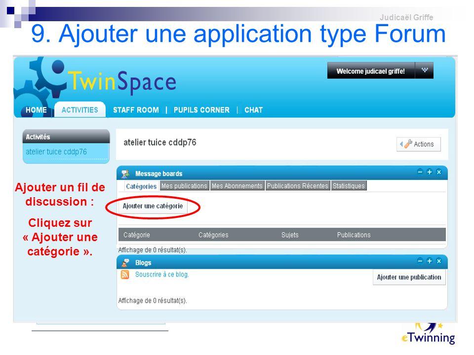 9. Ajouter une application type Forum