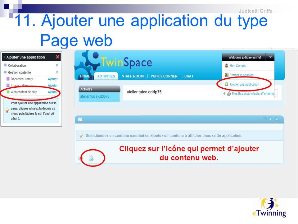 11. Ajouter une application du type Page web