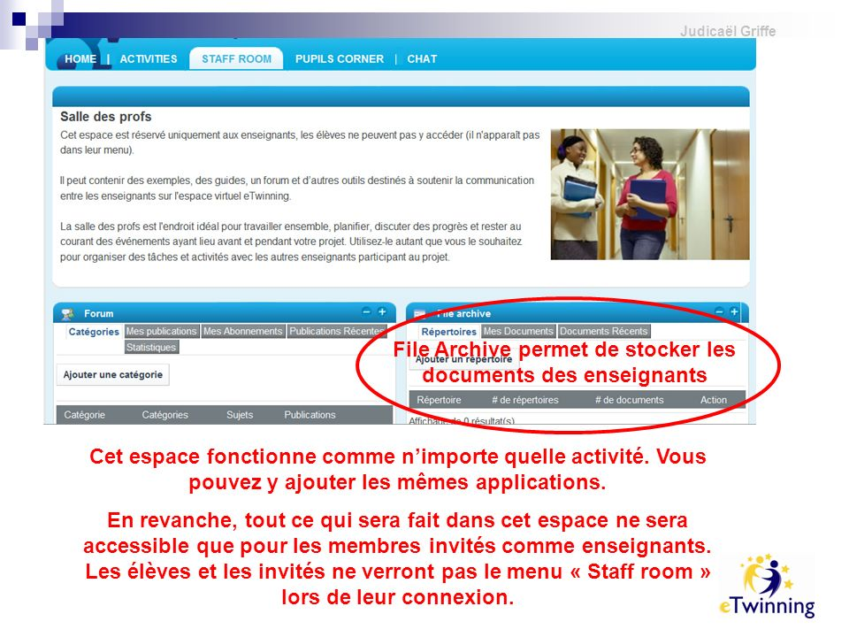 File Archive permet de stocker les documents des enseignants