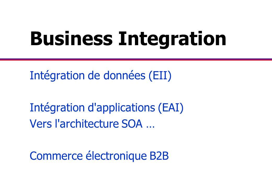Business Integration Intégration de données (EII)