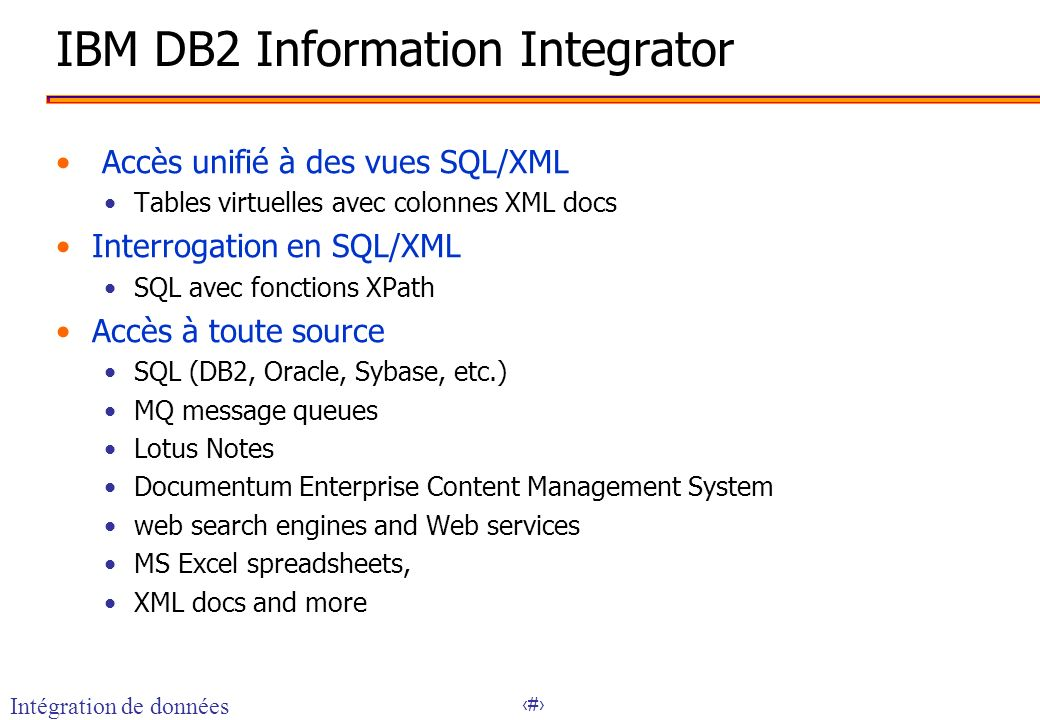 IBM DB2 Information Integrator