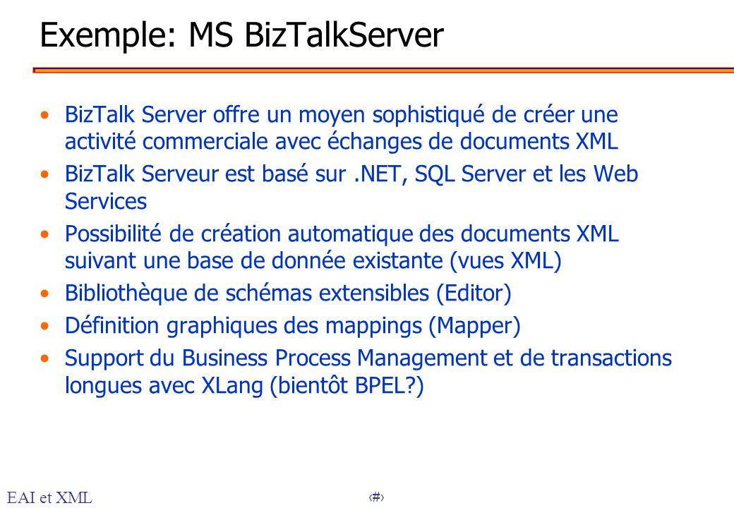 Exemple: MS BizTalkServer