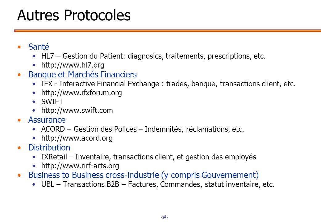 Autres Protocoles Santé Banque et Marchés Financiers Assurance
