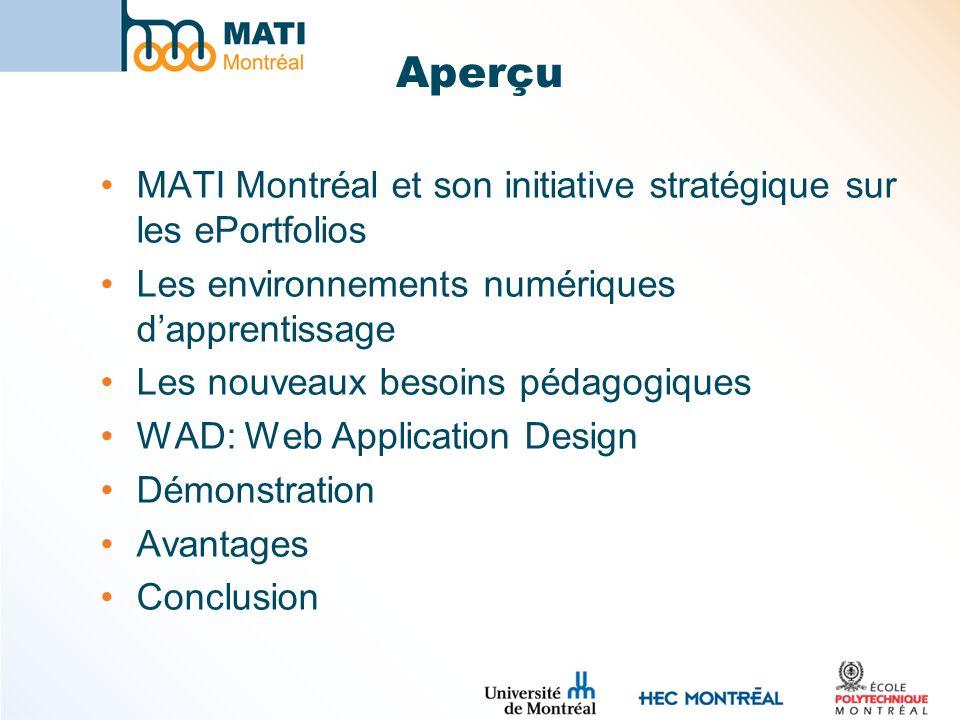 Aperçu MATI Montréal et son initiative stratégique sur les ePortfolios