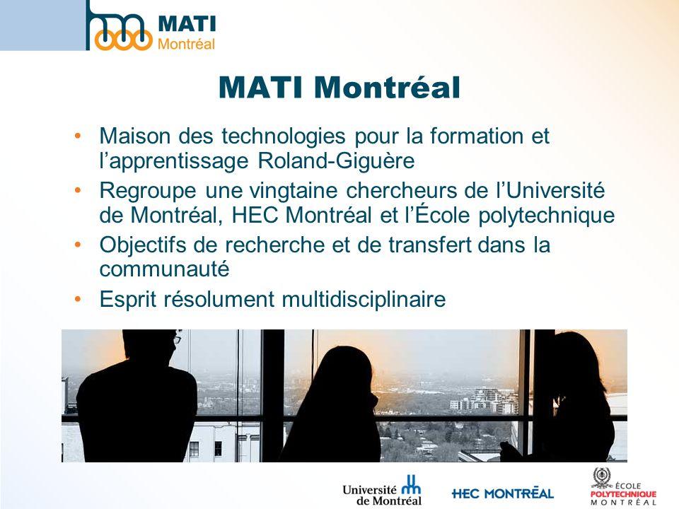 MATI Montréal Maison des technologies pour la formation et l'apprentissage Roland-Giguère.
