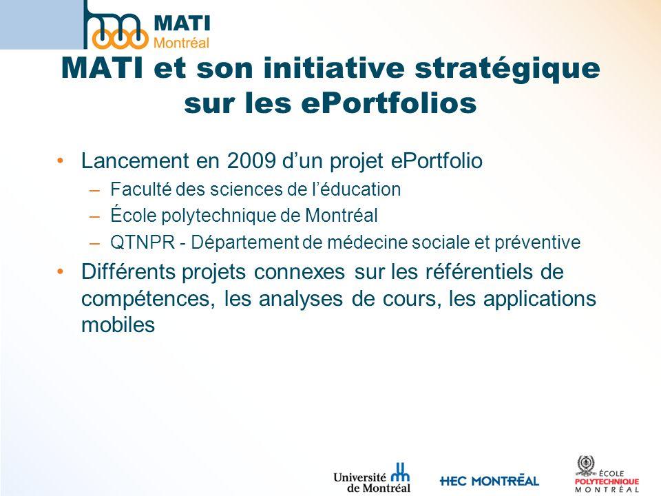 MATI et son initiative stratégique sur les ePortfolios