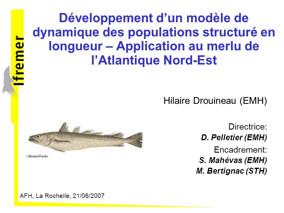 Développement d'un modèle de dynamique des populations structuré en longueur – Application au merlu de l'Atlantique Nord-Est