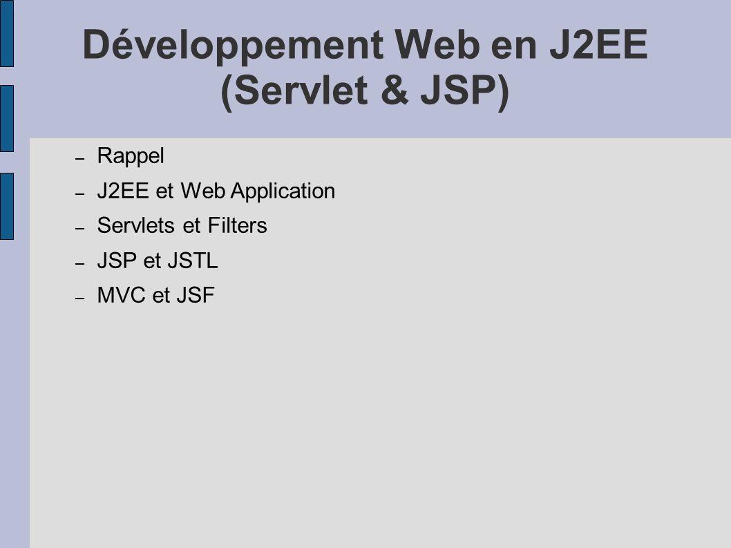 Développement Web en J2EE (Servlet & JSP)