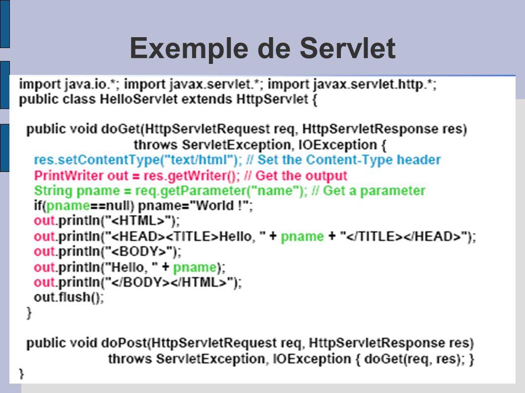 Exemple de Servlet