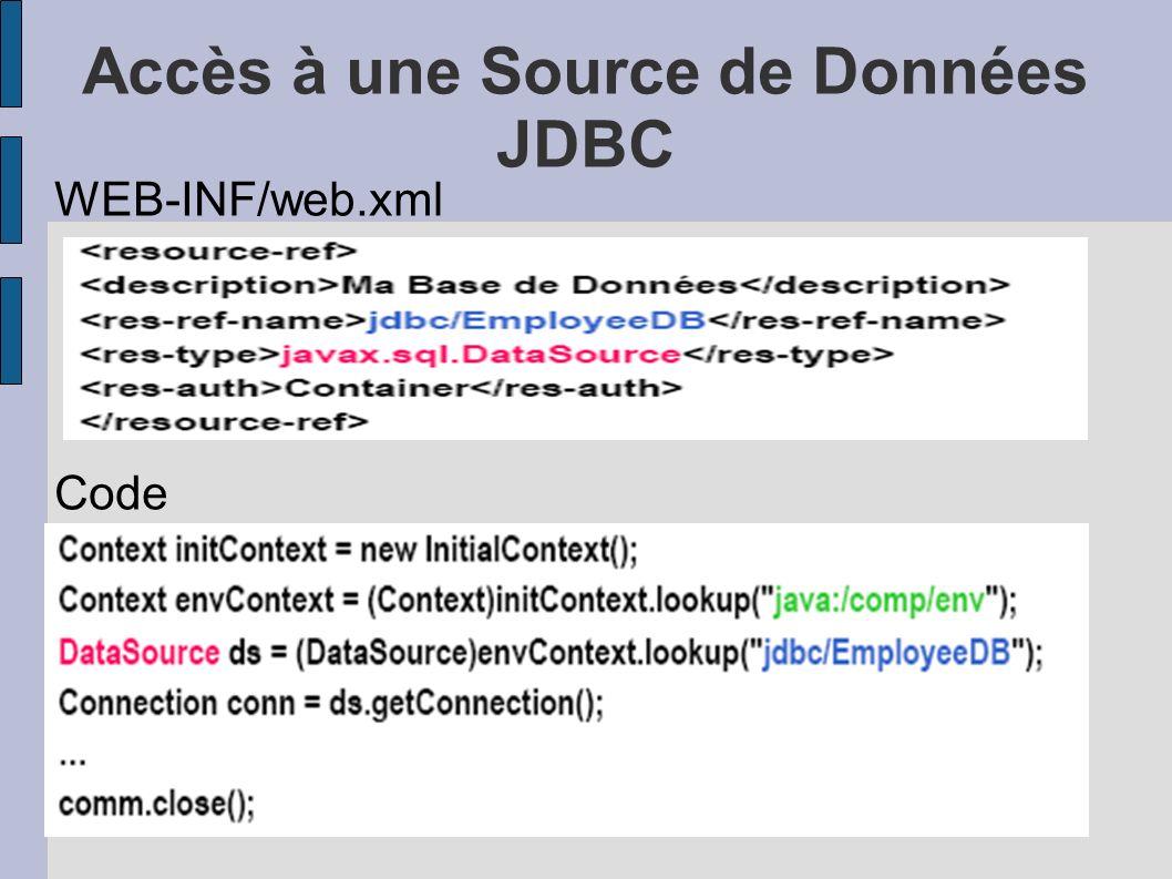 Accès à une Source de Données JDBC