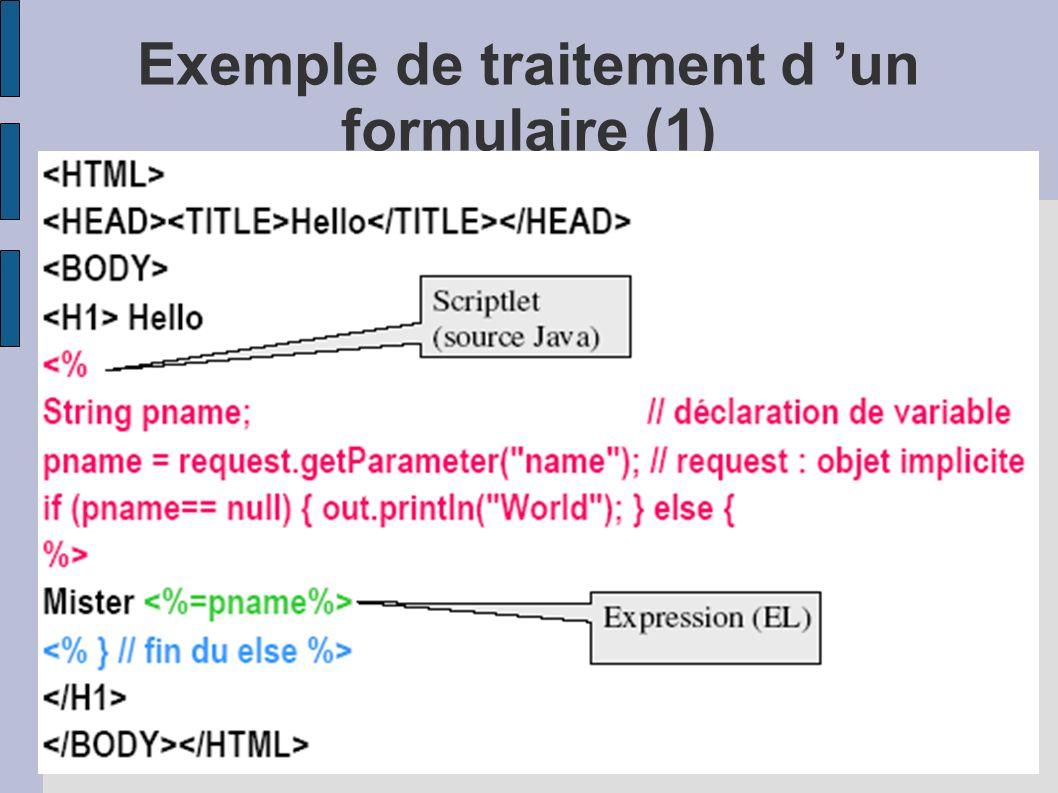 Exemple de traitement d 'un formulaire (1)