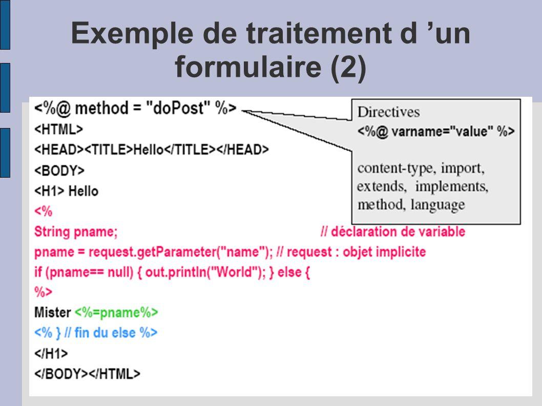 Exemple de traitement d 'un formulaire (2)