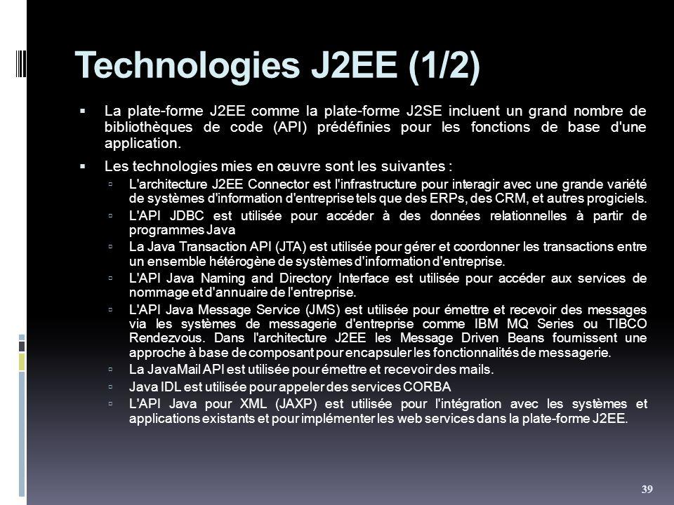 Technologies J2EE (1/2)
