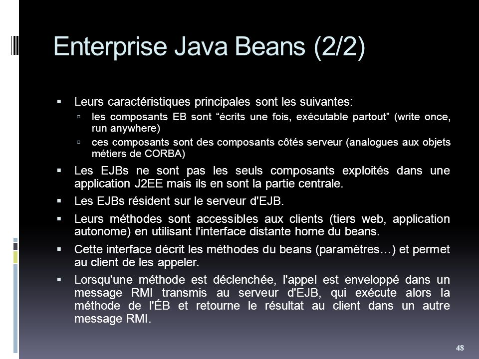 Enterprise Java Beans (2/2)