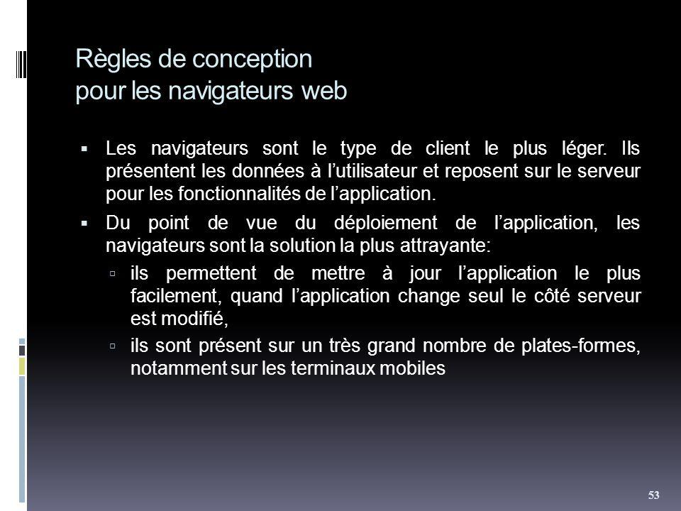Règles de conception pour les navigateurs web