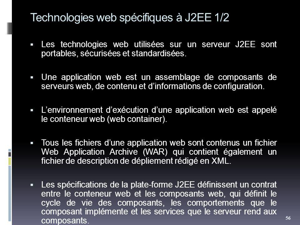 Technologies web spécifiques à J2EE 1/2
