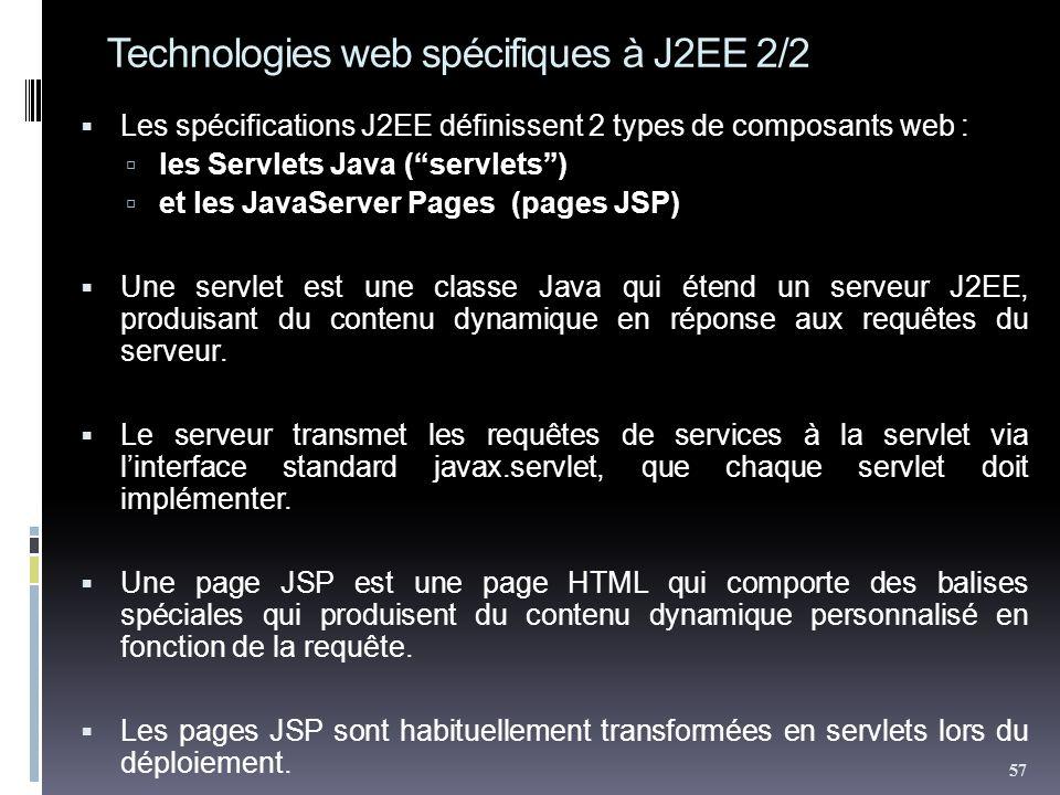 Technologies web spécifiques à J2EE 2/2