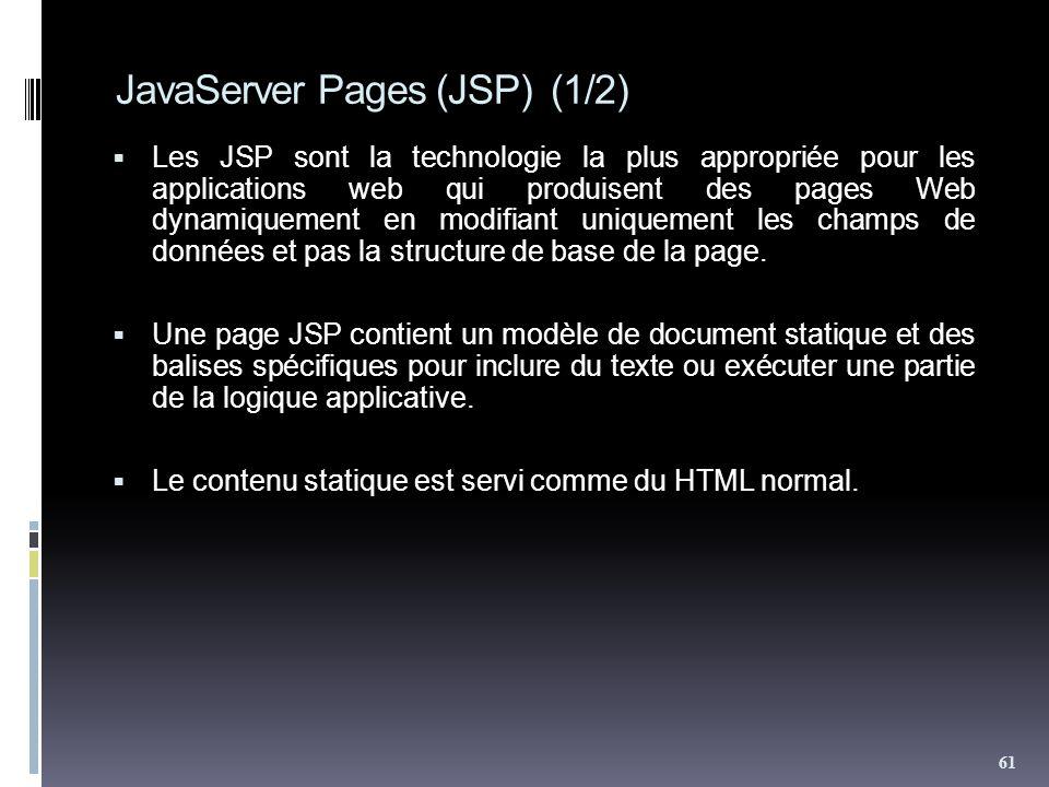 JavaServer Pages (JSP) (1/2)