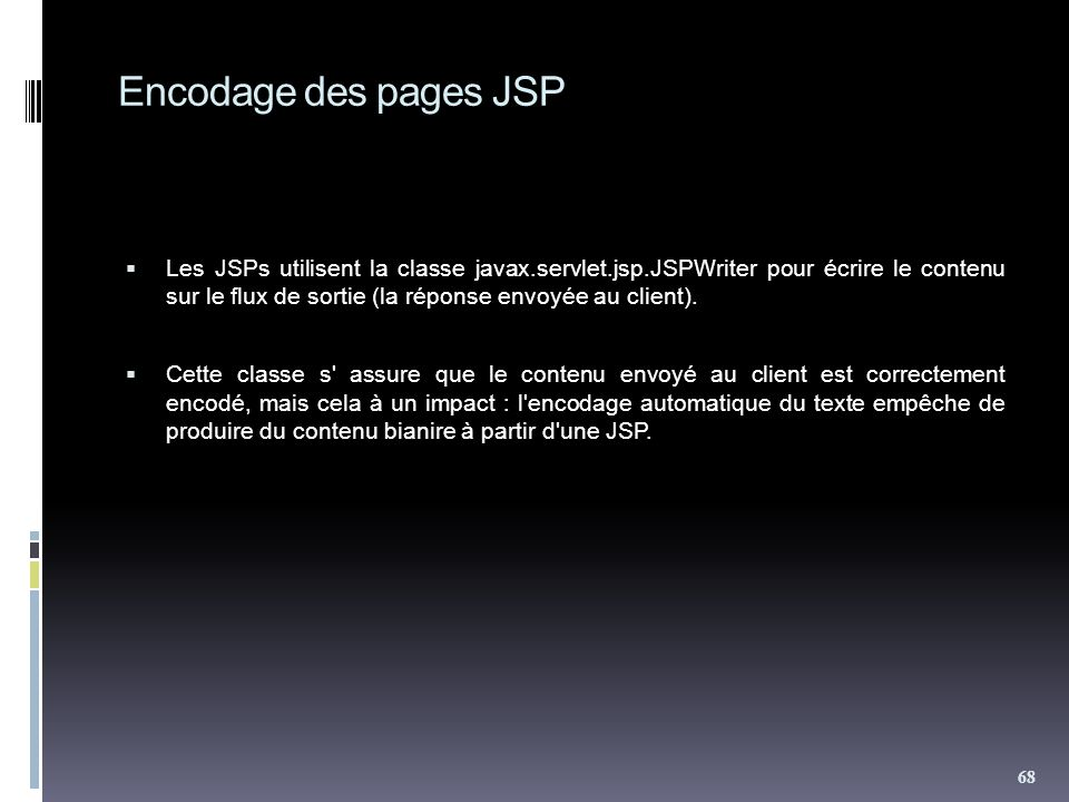Encodage des pages JSP