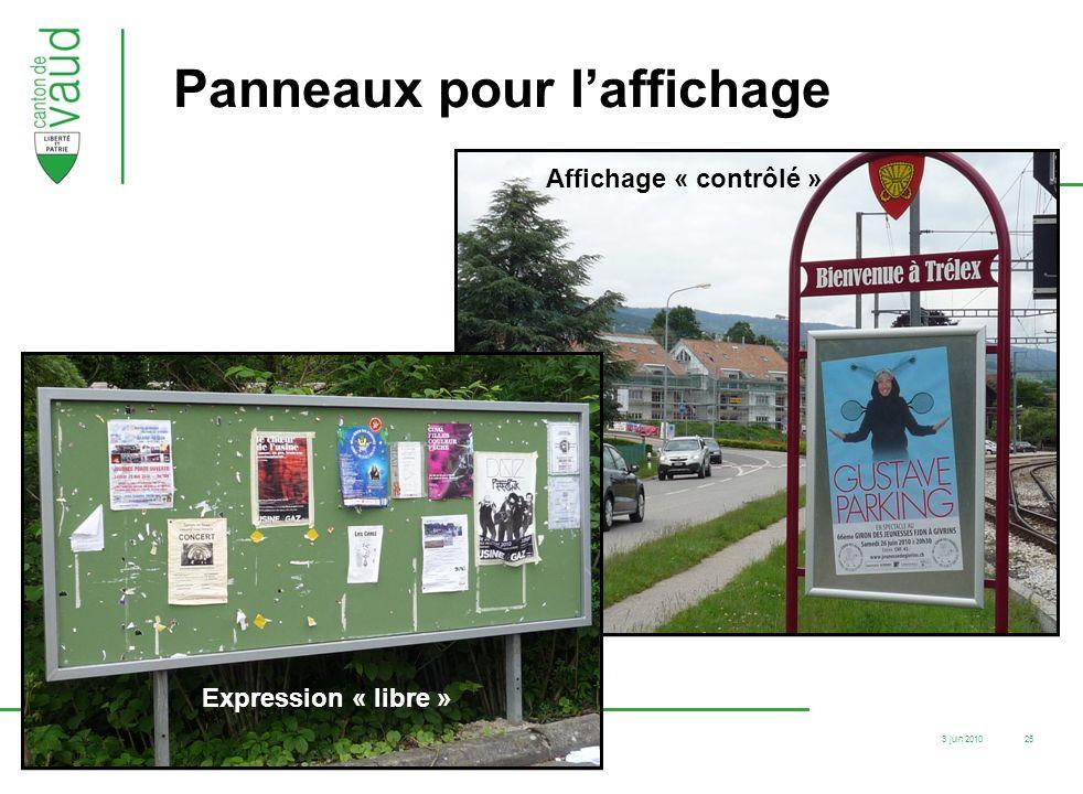 Panneaux pour l'affichage