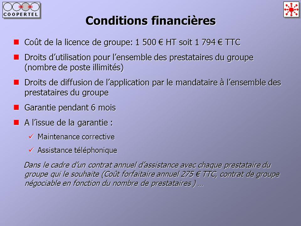 Conditions financières