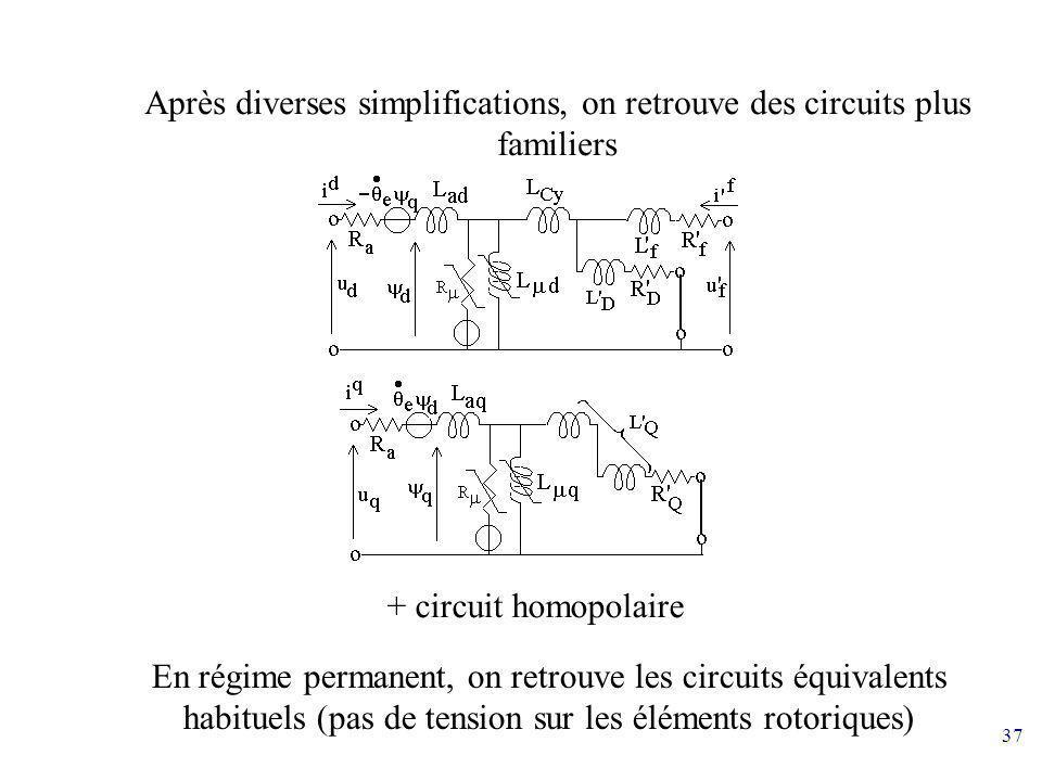 Après diverses simplifications, on retrouve des circuits plus familiers