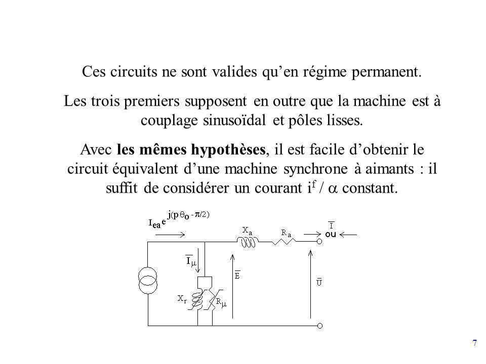 Ces circuits ne sont valides qu'en régime permanent.
