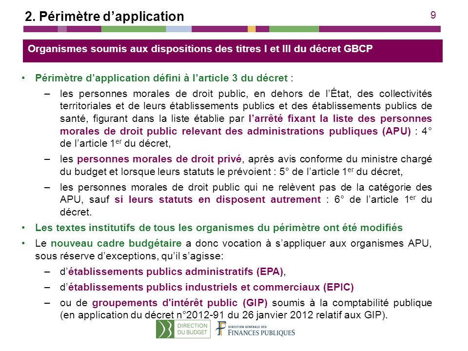 2. Périmètre d'application