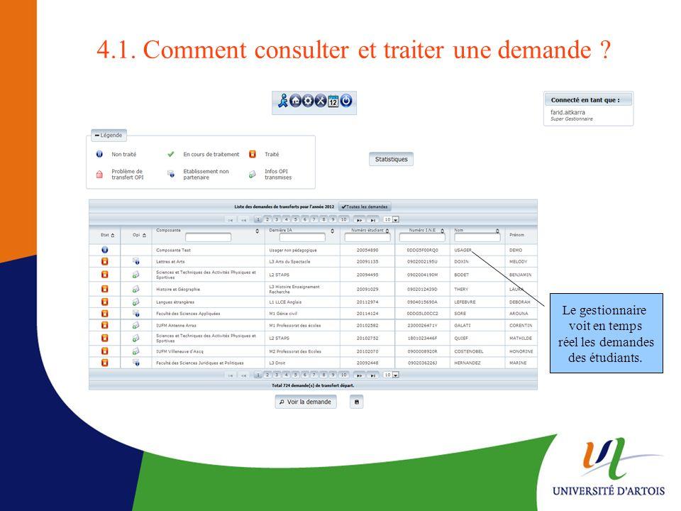 4.1. Comment consulter et traiter une demande