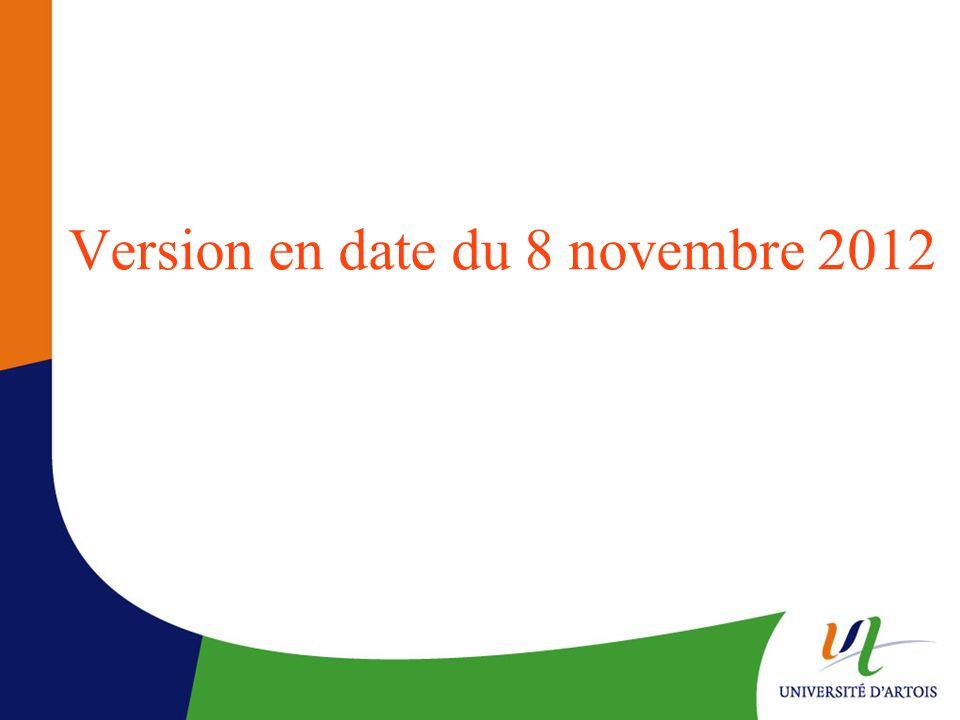 Version en date du 8 novembre 2012
