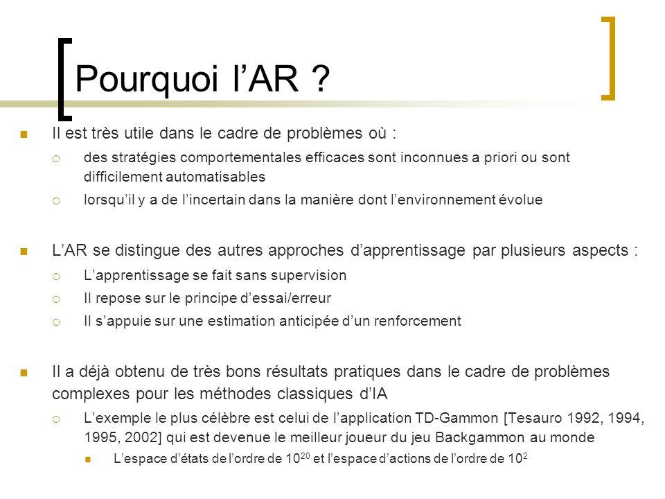 Pourquoi l'AR Il est très utile dans le cadre de problèmes où :