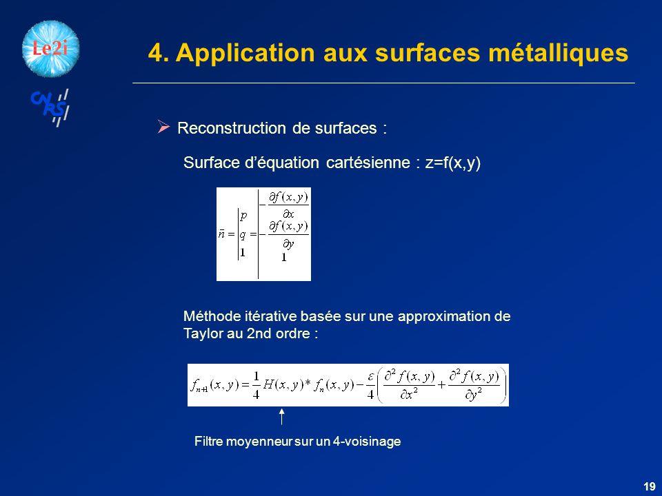 4. Application aux surfaces métalliques