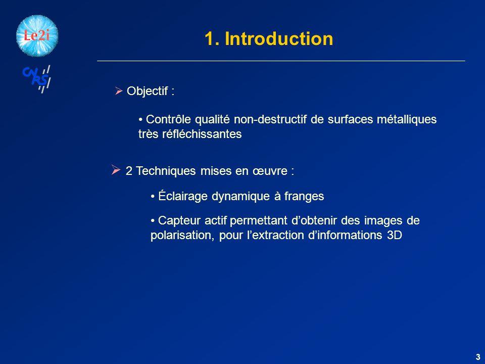 1. Introduction 2 Techniques mises en œuvre : Objectif :