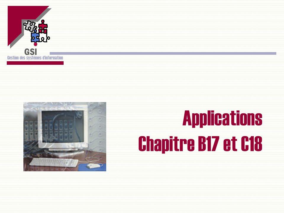 Applications Chapitre B17 et C18