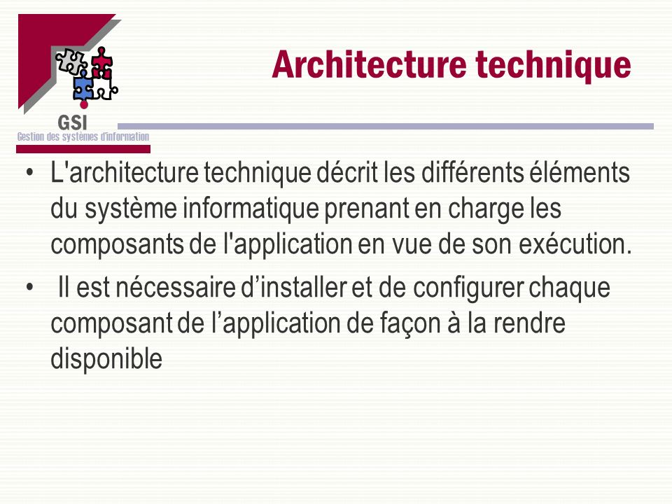 Architecture technique