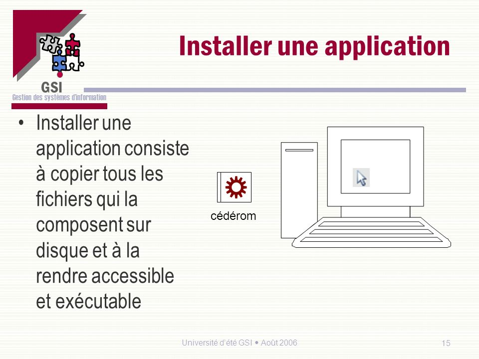 Installer une application