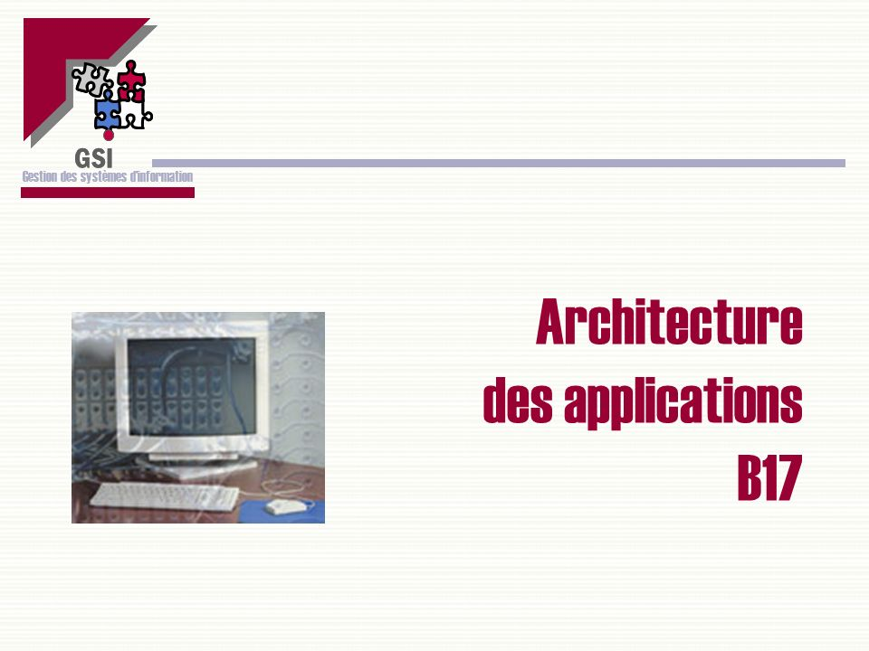 Architecture des applications B17