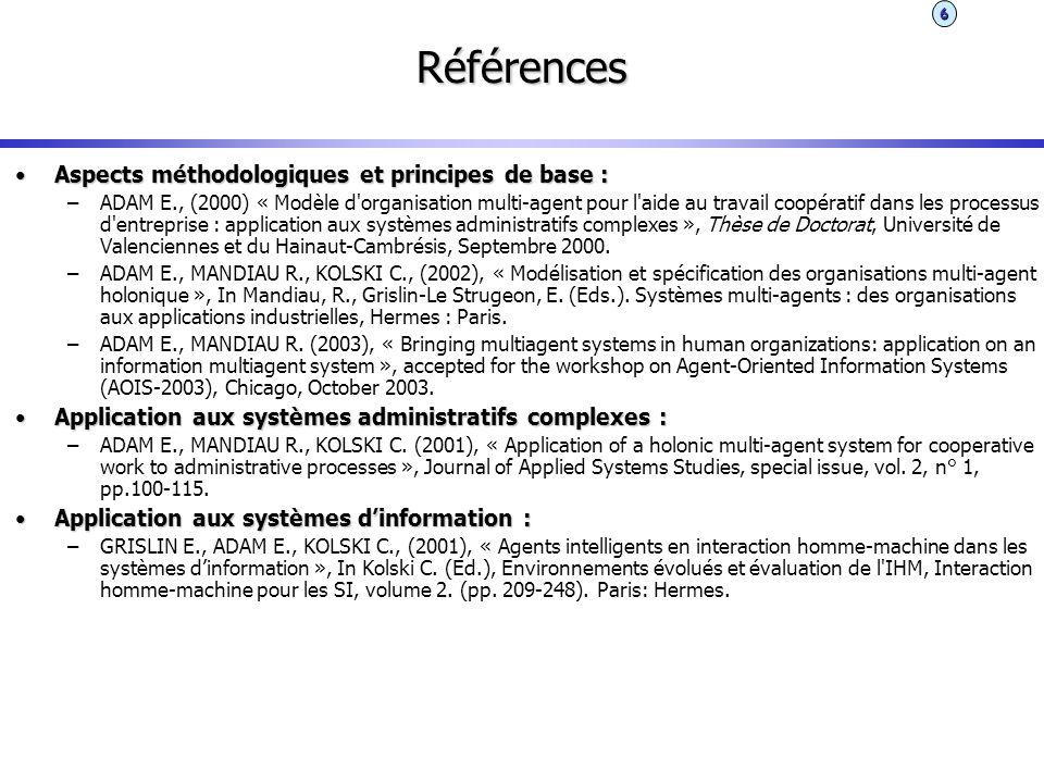 Références Aspects méthodologiques et principes de base :