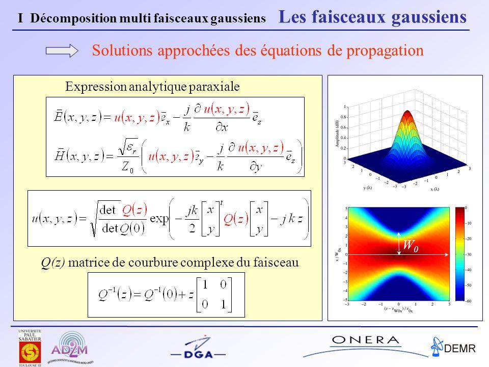 Solutions approchées des équations de propagation