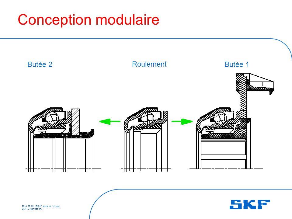 Conception modulaire Butée 2 Roulement Butée 1