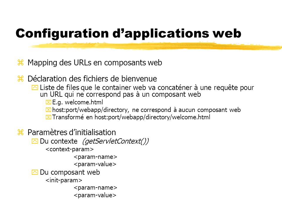 Configuration d'applications web
