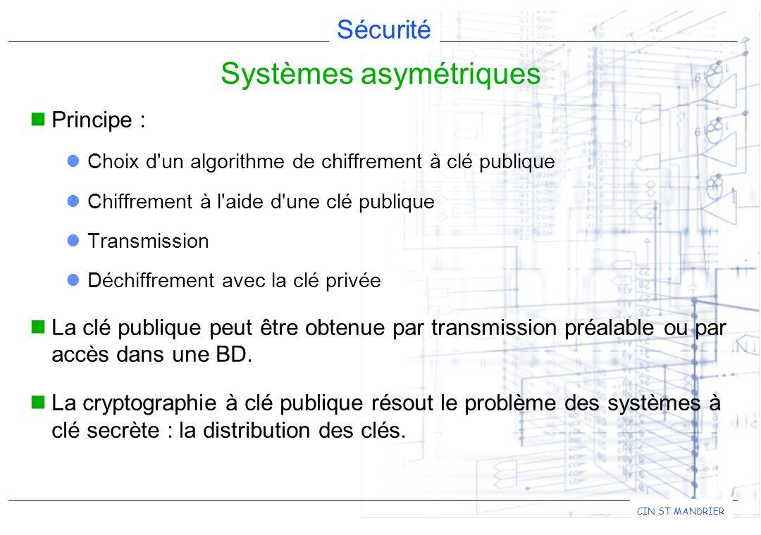 Systèmes asymétriques