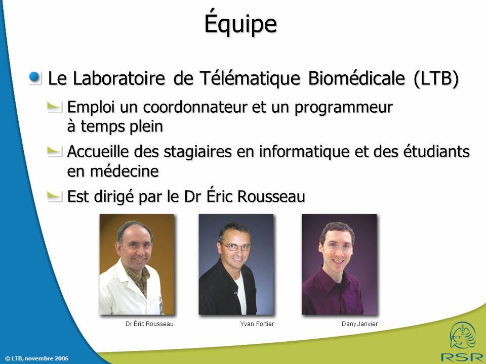 Équipe Le Laboratoire de Télématique Biomédicale (LTB)