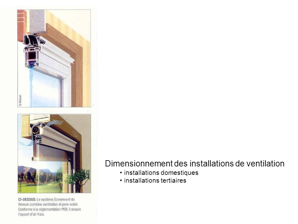 Dimensionnement des installations de ventilation