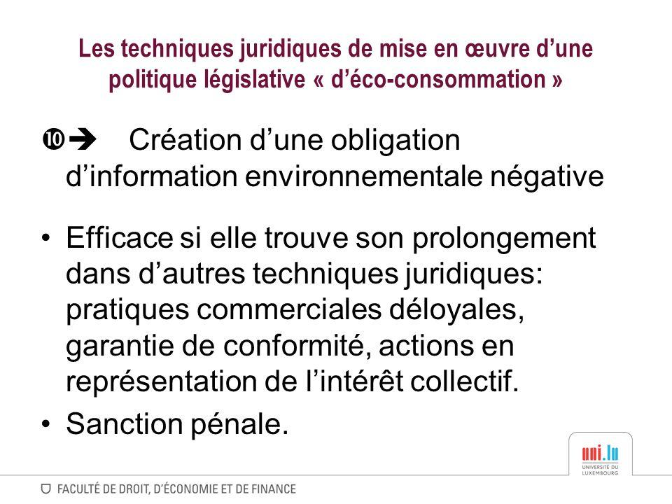  Création d'une obligation d'information environnementale négative