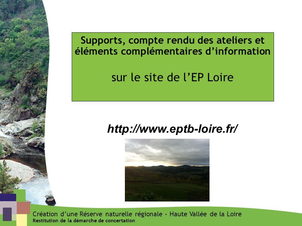 sur le site de l'EP Loire