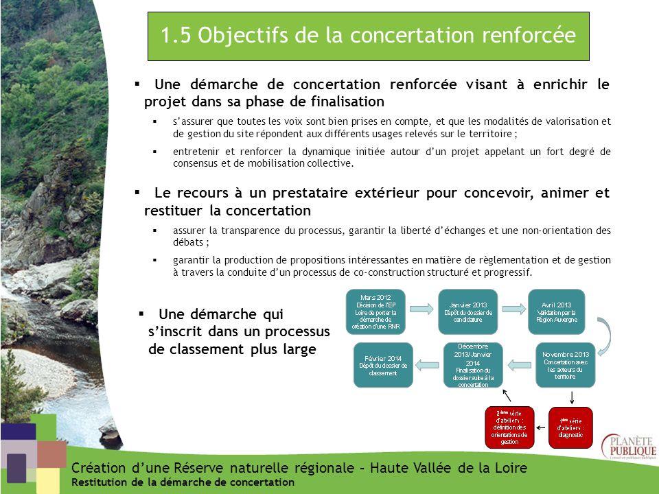1.5 Objectifs de la concertation renforcée