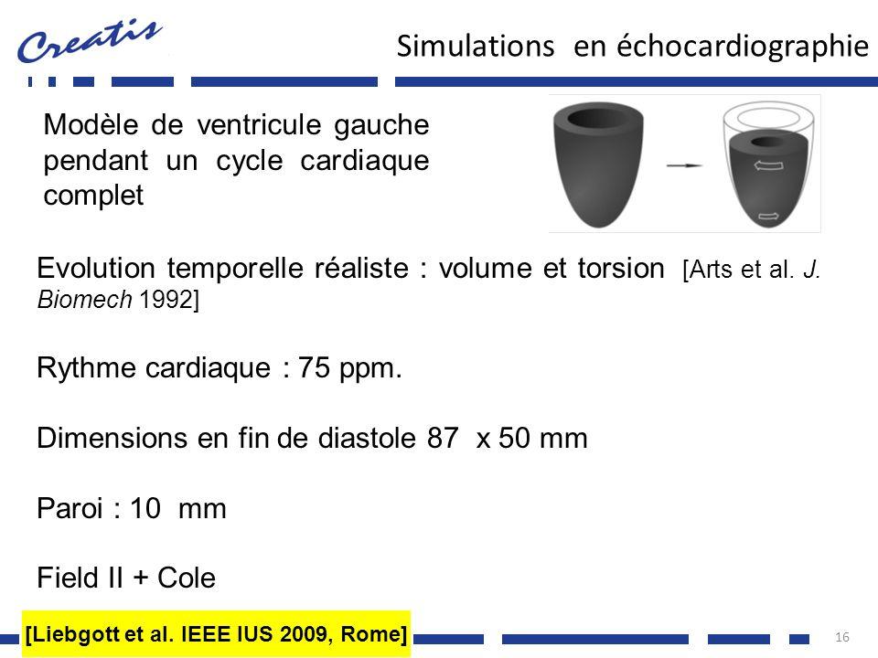 Simulations en échocardiographie