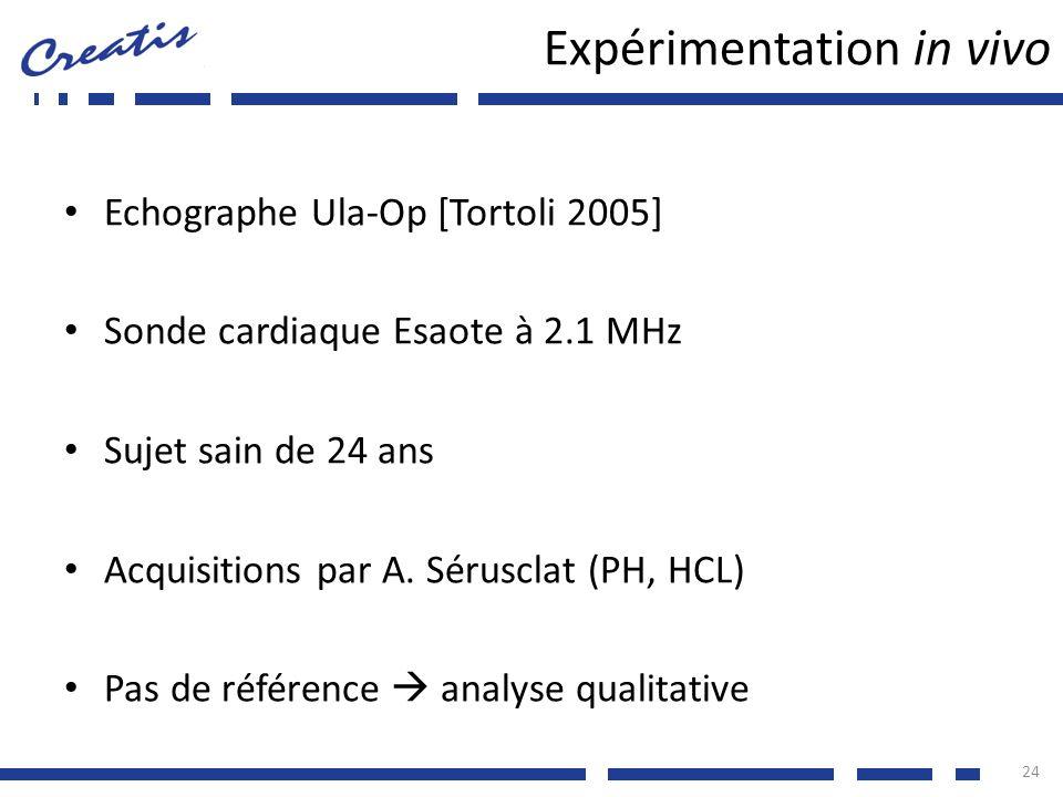 Expérimentation in vivo